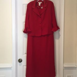 Beautiful Long red dress with jacket